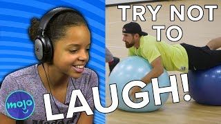 DUDE PERFECT Exercise Ball Surfing - TRY NOT TO LAUGH CHALLENGE