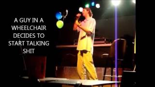 COMEDIAN FOOBOO THROWS CHANGE FROM HIS TIP JAR ON A HECKLER
