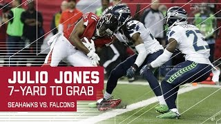 Julio Jones TD Finishes Off 75-yard Drive!   Seahawks vs. Falcons   NFL Divisional Highlights