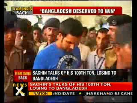Sachin praises Bangladesh's performance in Asia cup  - NewsX