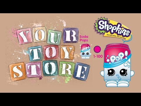 Unboxing Blind Bag Shopkins Season 1 Five Pack Soda Pops Surprise