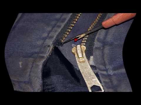 Как сделать замок на куртку