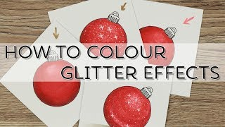 How to Colour Glitter Effects with Copics