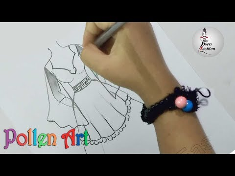 how to draw a dress, fashion design Part 4, Indian fashion designer dress - My Own Fashion