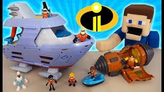 Incredibles 2 Junior Supers Movie Playsets Hydroliner Tunneler Unboxing McDonald's Toys