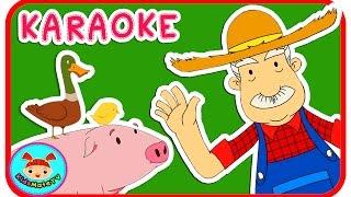 Old MacDonald Had A Farm Nursery Rhymes (KARAOKE) ★KidsMateTv★