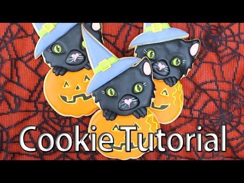 How to make Halloween cookies - Kawaii collaboration
