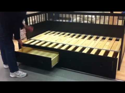 Ikea converting bed youtube