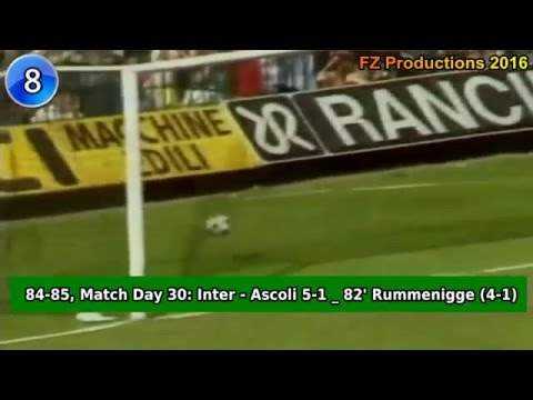 Karl-Heinz Rummenigge - 24 goals in Serie A (Inter 1984-1987)