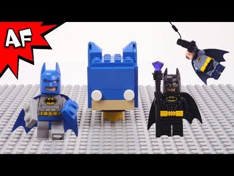 Lego Blue Batman VS Bad Batman Brick Building Brickheadz with Alfred