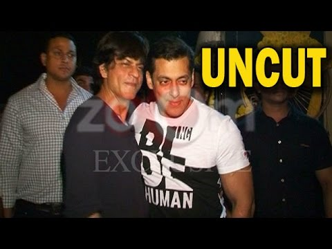 UNCUT - Salman Khan & Shahrukh Khan At Salman Khan's Residence! | EXCLUSIVE