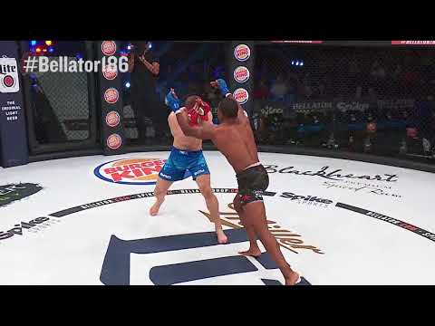 Bellator 186: Tywan Claxton wins by Flying Knee Knockout!