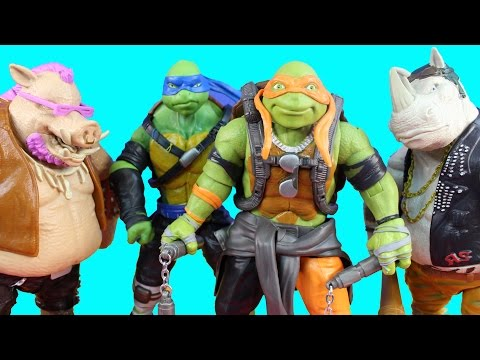 Teenage Mutant Ninja Turtles Out Of The Shadows TMNT With Michelangelo Leonardo Beebop Rocksteady
