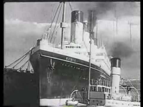 Footage from 1935 featuring Olympic heading to Jarrow , England to be scrapped.