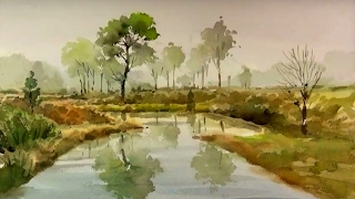 That's easy for landscape watercolor painting