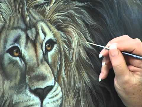 How To Paint White Fur In Acrylic Youtube
