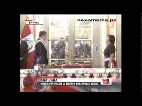 Juramentación de Ana Jara Velásquez como ministra de la Mujer y Desarrollo Social