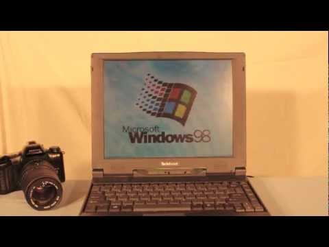 Old Windows 98 Laptop Review! W. Fun and Antics! 90's Twinhead!!