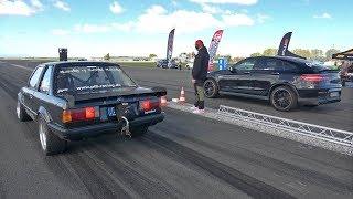 950HP GAD MOTORS Mercedes-AMG GLC63s vs 820HP BMW E30 325i Turbo