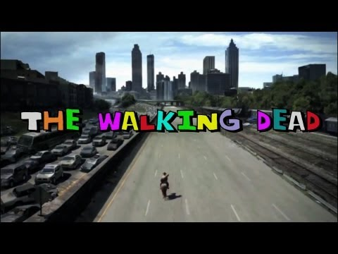 The Walking Dead 80's Sitcom Intro