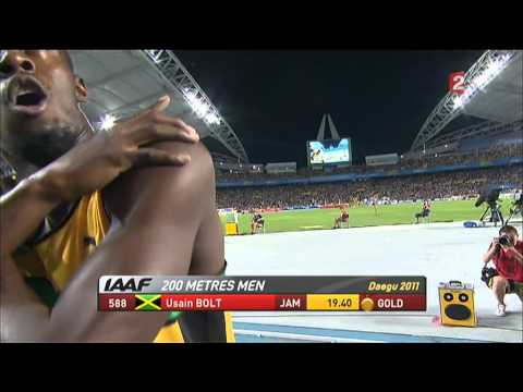 Usain Bolt - Final 200m Men - Finale 200m Homme -Daegu 2011