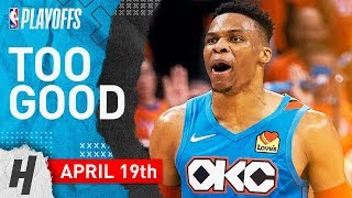 Russell Westbrook Full Game 3 Highlights vs Trail Blazers 2019 NBA Playoffs - 33 Pts, 11 Ast, SICK!
