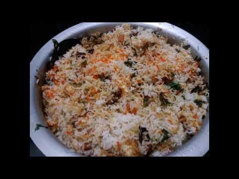 Making panneer biryani in Telugu