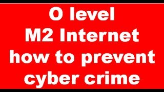 Doeacc O level M2 Internet Question how to prevent cyber crime Expain In Hindi