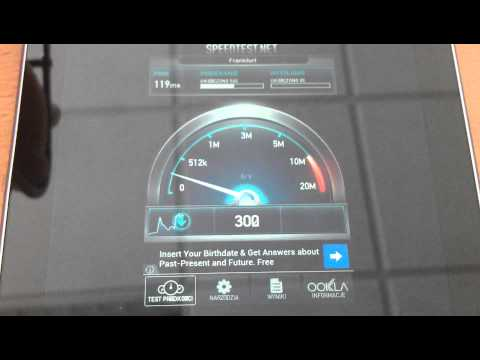 Speedtest Aero2 tablet Asus Nexus 7
