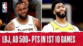 First Lakers Duo Since Kobe & Shaq With 500+ In First 10 Games