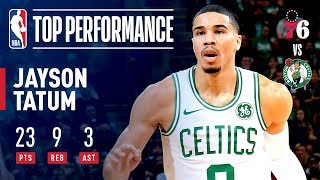 Jayson Tatum Drops An Efficient 23 Points | 2018-2019 NBA Opening Night