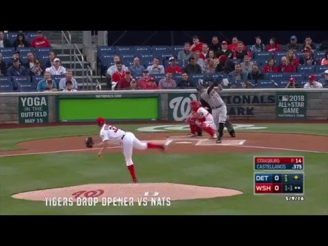 """Tiger Bites One-Minute Highlights 2016: """"Tigers Drop Opener vs Nats"""" [Game 31] (HD)"""