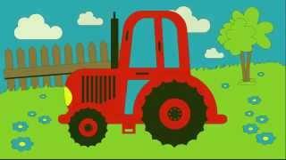 Kolorowanka - Kolorowanie Traktora -  Nauka kolorów dla dzieci | CzyWieszJak