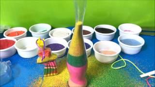 Đồ chơi trẻ em Làm tranh cát trong lọ ngôi sao, trái tim Bé học màu sắc (Chim Xinh)