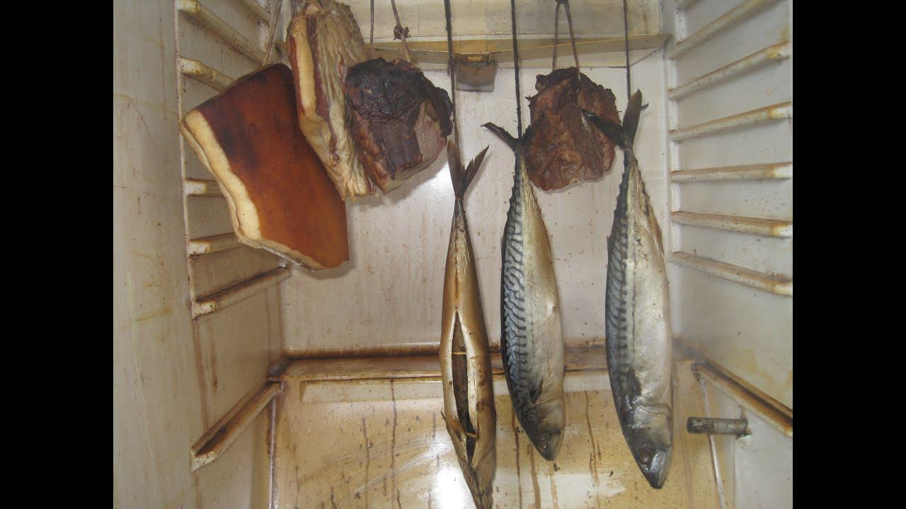 Коптильня горячего копчения из холодильника своими руками фото 45