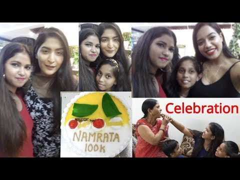 100k Subscribers Celebration ||Meet Shreya jain & Debasree banerjee