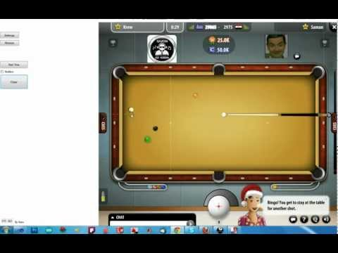 Pool Live Tour Cheat - Aiming Line Software - Version4.2 December 2011