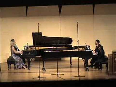 Four Cliburn Gold Medalists play together on two pianos