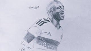 [Speed Drawing of Demba ba , Besiktas Time Lapse Drawings] Video