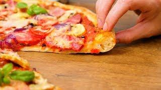 Тесто для пиццы ☆ Тонкое с мягкими корочками ☆ Идеальный рецепт теста на пиццу