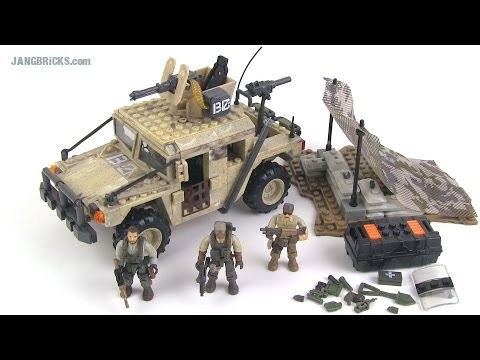 Mega Bloks Call of Duty Light Firebase (Humvee) set review!
