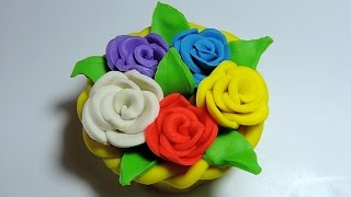 Play Doh: Rose Flower Basket