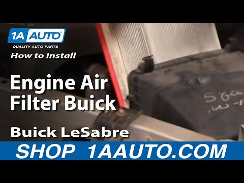 How To Install Replace Engine Air Filter Buick LeSabre 00-05 1AAuto.com