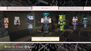 Minecraft skin pack 1 DLC Xbox 360 Kinect 720P gameplay