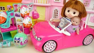 Baby doll car and shoes shop surprise eggs toys baby Doli play