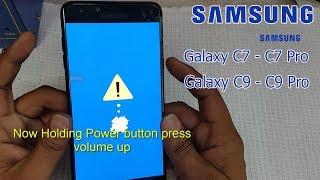 Samsung Galaxy C7 ,C9  and Galaxy C7 Pro ,C9 Pro  Hard Reset || Pattern unlock || Factory Reset