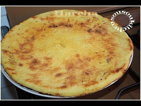 Moroccan semolina Bread/Harcha #1 Pain au semoule الحرشة-Sousoukitchen