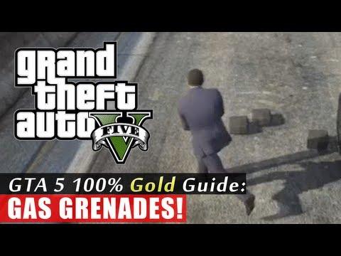 GTA 5 Walkthrough: Gas Grenades (100% Gold Completion) HD