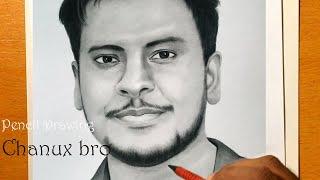 Pencil Drawing of chanux bro -  Youtuber
