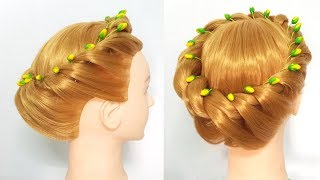 Easy Quick Braided Hairstyle for Party/Wedding/Function | Hairstyles for girls| Different Hairstyles